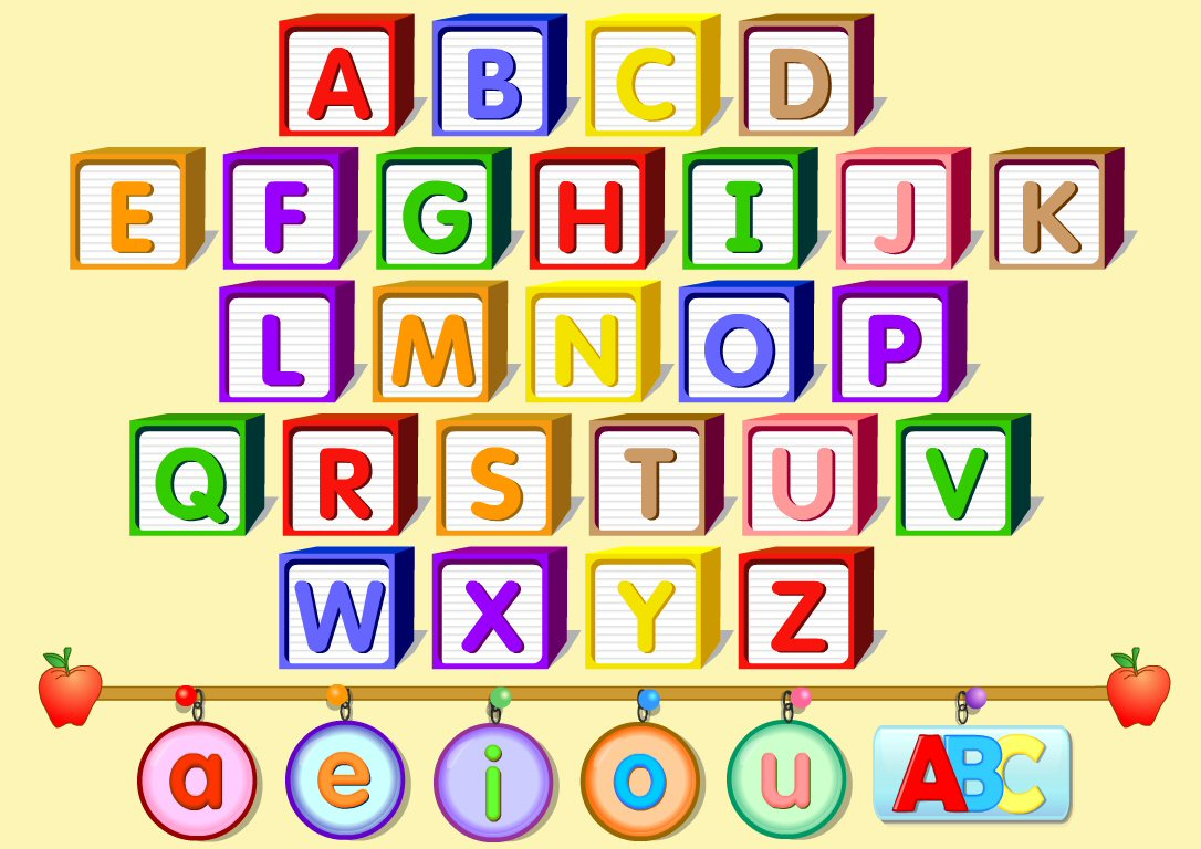 Attractive ABC Learning Chart